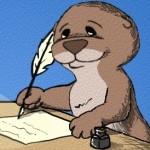 Otter writing header texture