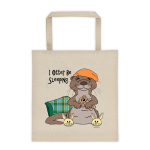 I Otter Be Sleeping Cotton Canvas Tote