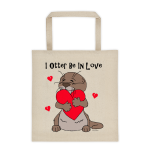 I Otter Be In Love Cotton Canvas Tote