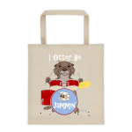 I Otter Be Jammin' Cotton Canvas Tote