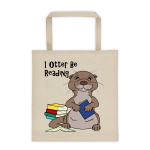 I Otter Be Reading Cotton Canvas Tote