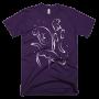 Men's Otter Swimming T-shirt in Eggplant