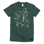 Women's Otter Swimming T-shirt in Forest