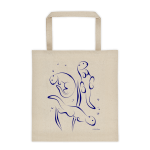 Otters Swimming Tote bag