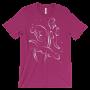 Otters Swimming Berry T-shirt