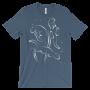 Otters Swimming Steel Blue T-shirt