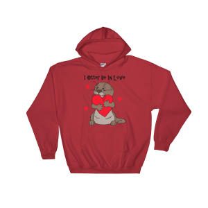 I Otter Be in Love Red Hoodie