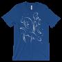 Otters Swimming Royal T-shirt