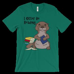 I Otter Be Reading Green T-shirt
