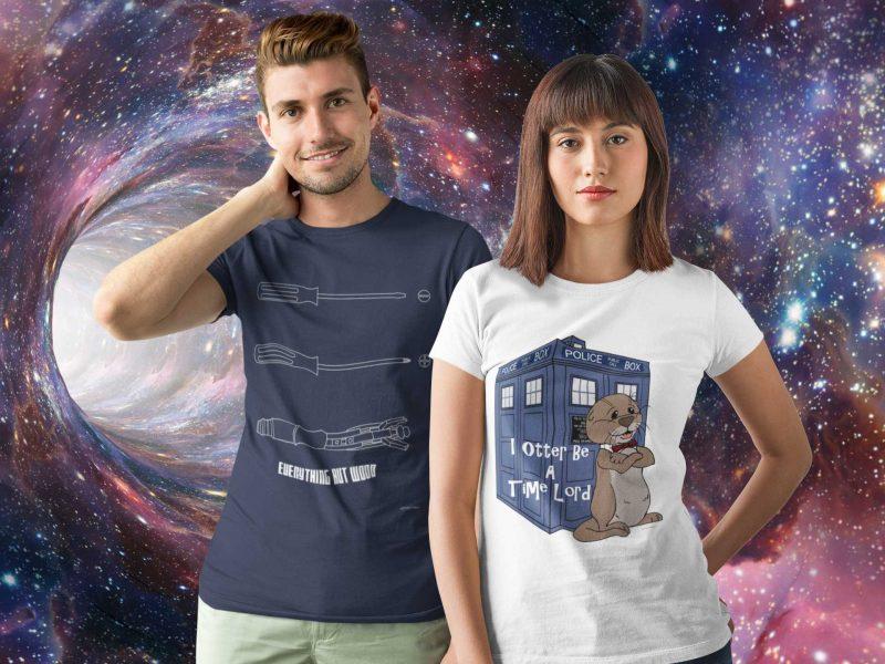 Dr. Who Apparel male-female-universe-Ad