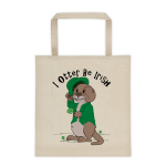 I Otter Be Irish Cotton Canvas Tote