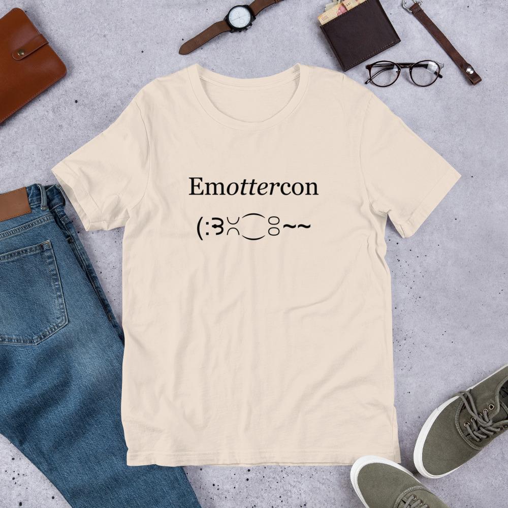 Emottercon2-Unisex T-Shirt_mockup_Front_Flat-Lifestyle_Soft-Cream