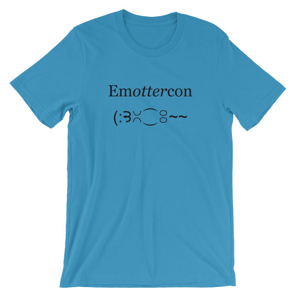 Emottercon2-Unisex T-Shirt_mockup_Front_Wrinkled_Ocean-Blue