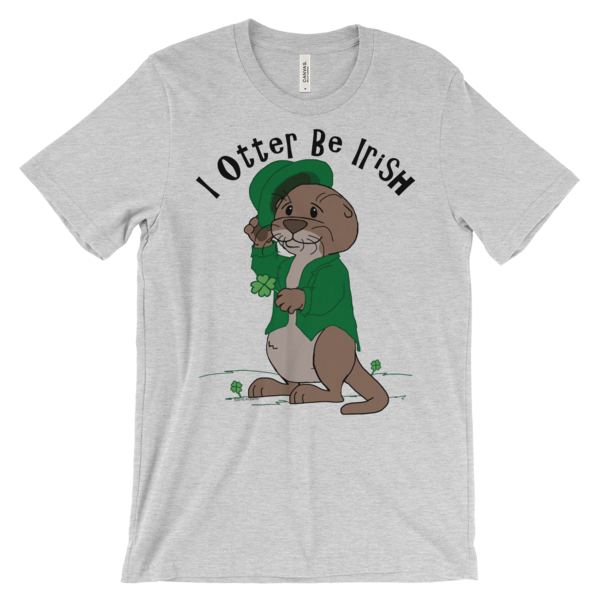 I Otter Be Irish Heather T-shirt