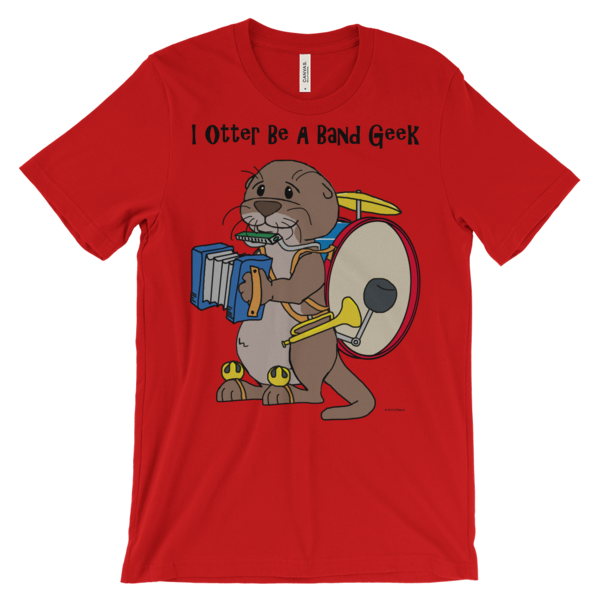 I Otter Be a Band Geek Red T-shirt