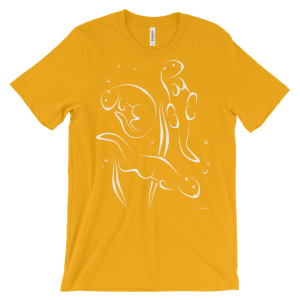 Otters Swimming Gold T-shirt