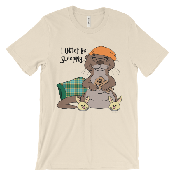 I Otter Be Sleeping Cream T-shirt