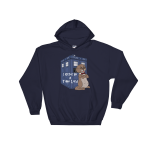 I Otter Be A Time Lord Navy Hoodie