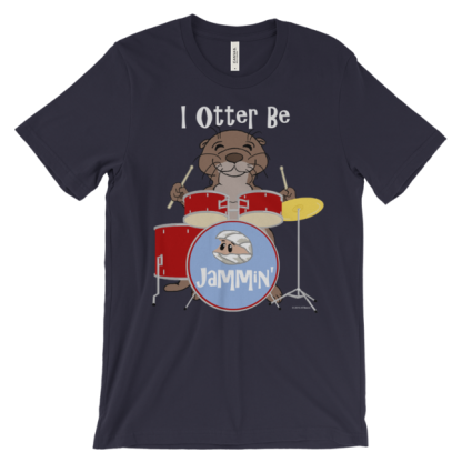 I Otter Be Jammin' Navy T-shirt