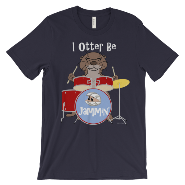 I Otter Be Jammin' Navy T-shirt