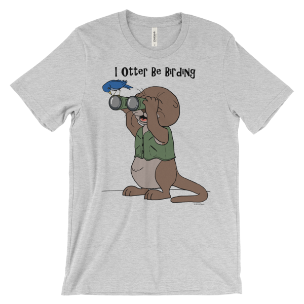 I Otter Be Birding Heather T-shirt
