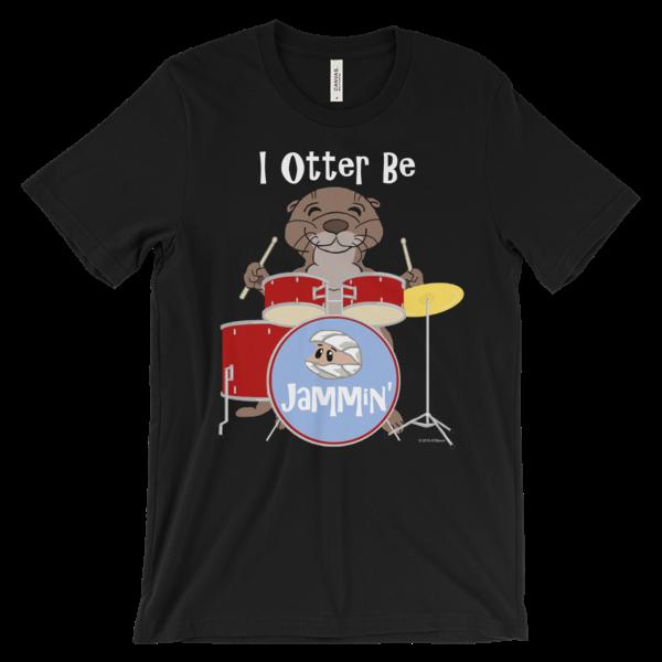 I Otter Be Jammin' Black T-shirt