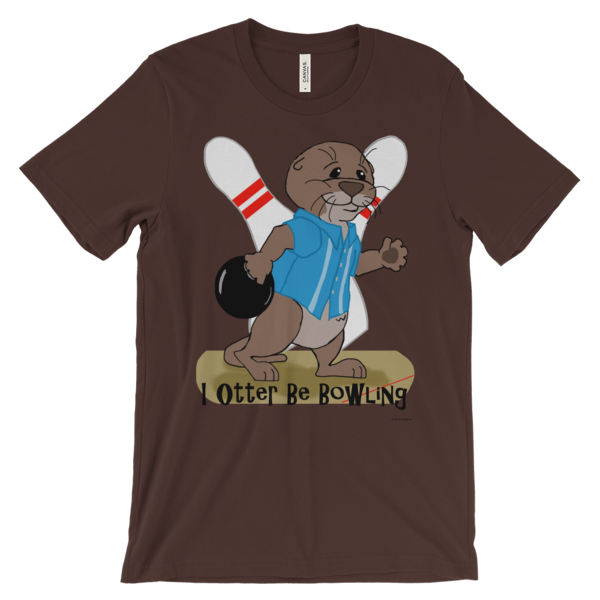 I Otter Be Bowling Brown T-shirt