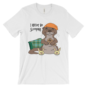 I Otter Be Sleeping White T-shirt