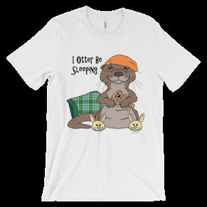 I Otter Be Sleeping White T-shirt