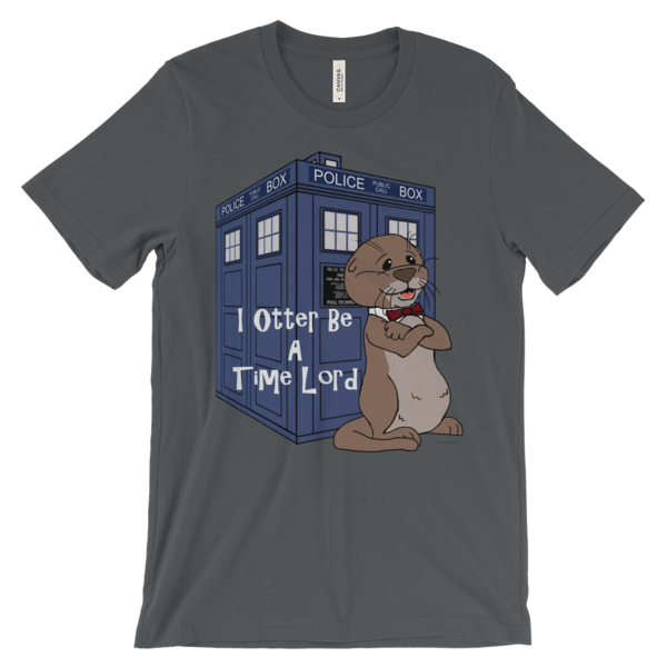 I Otter Be A Time Lord Asphalt T-shirt