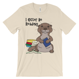 I Otter Be Reading Soft Cream T-shirt