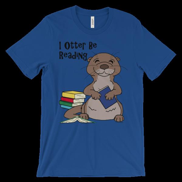 I Otter Be Reading Royal T-shirt