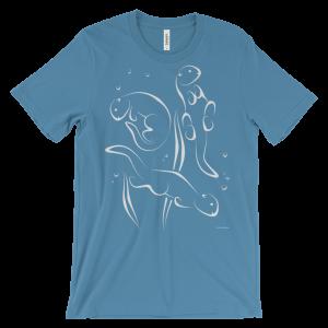 Otters Swimming Ocean Blue T-shirt