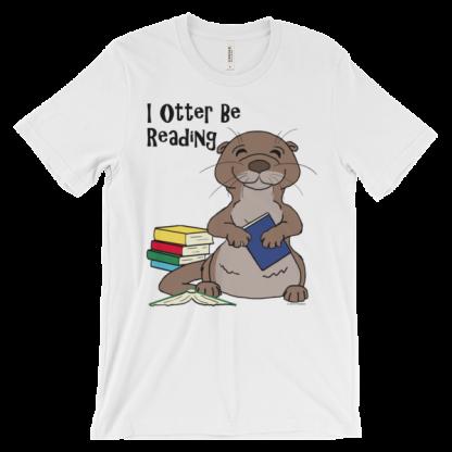 I Otter Be Reading White T-shirt