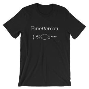 Emottercon Black T-shirt Print