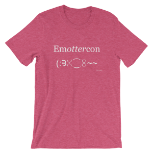 Emottercon Heather Raspberry T-shirt