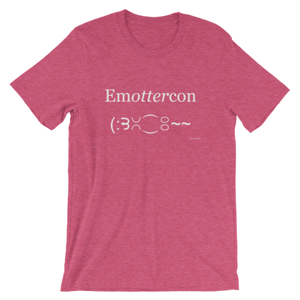 Emottercon Heather Raspberry T-shirt