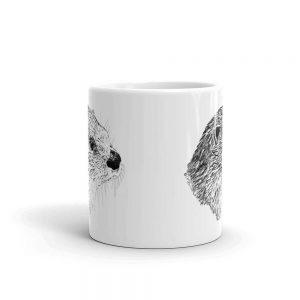 Pen & ink River otter Head Mug mockup_Front-view_11oz