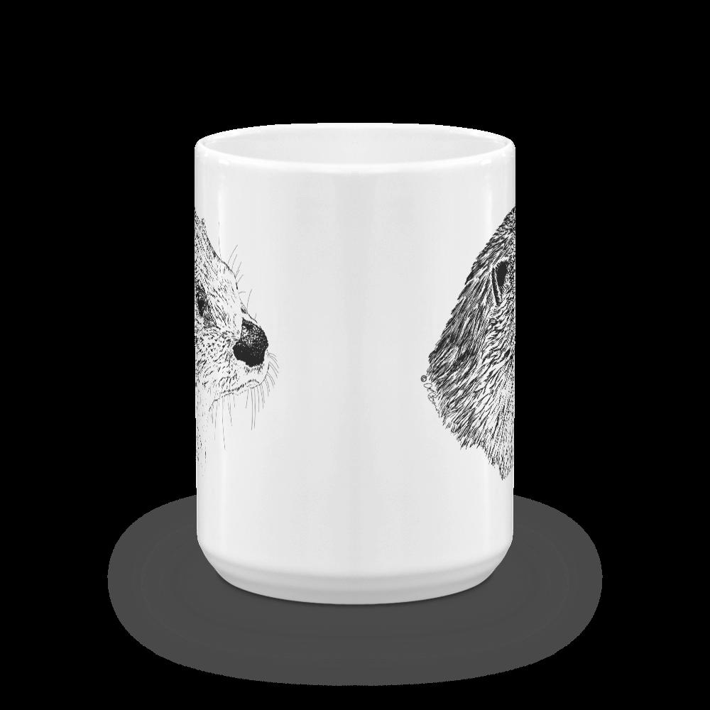 Pen & ink River otter Head Mug mockup_Front-view_15oz