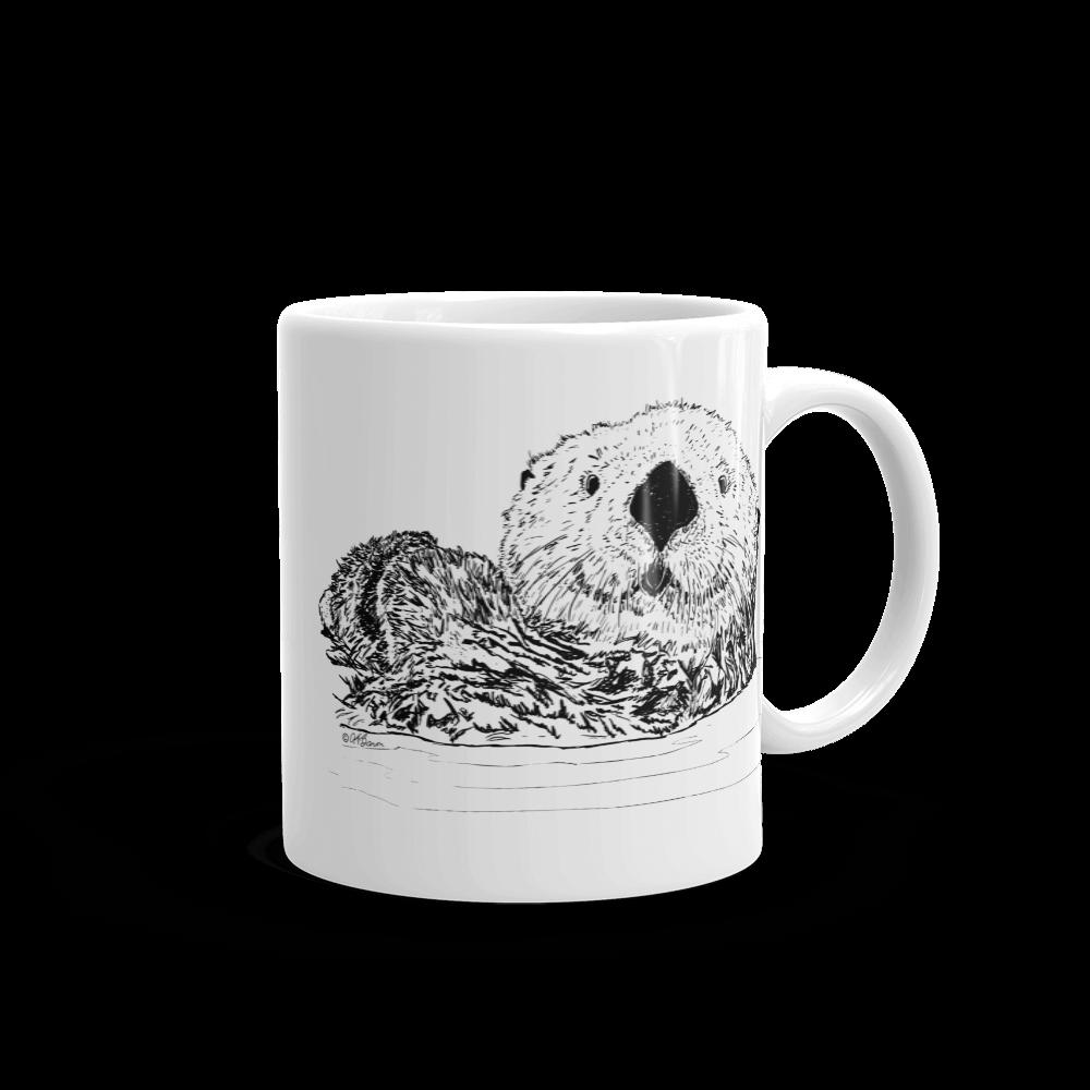Pen & Ink Sea Otter Head Mug mockup_Handle-on-Right_11oz