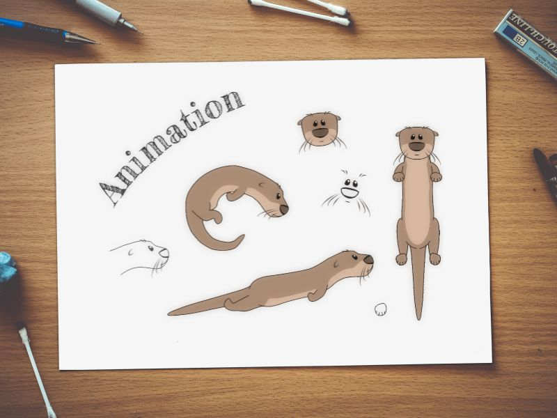 Animation Illustration Sample for Otter Things